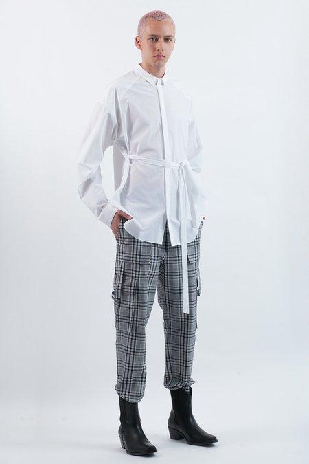 Juun.J Belted Shirt - white