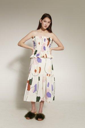 Arc & Bow Aspect Skirt - multi