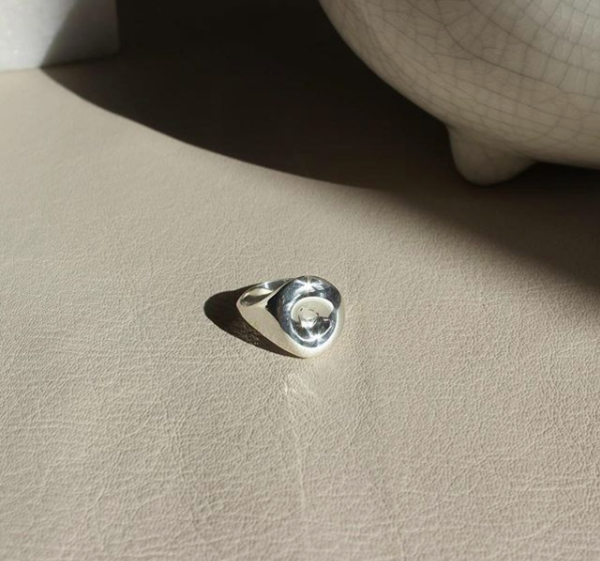 EMBR Jewellery Droplet Ring - Sterling silver