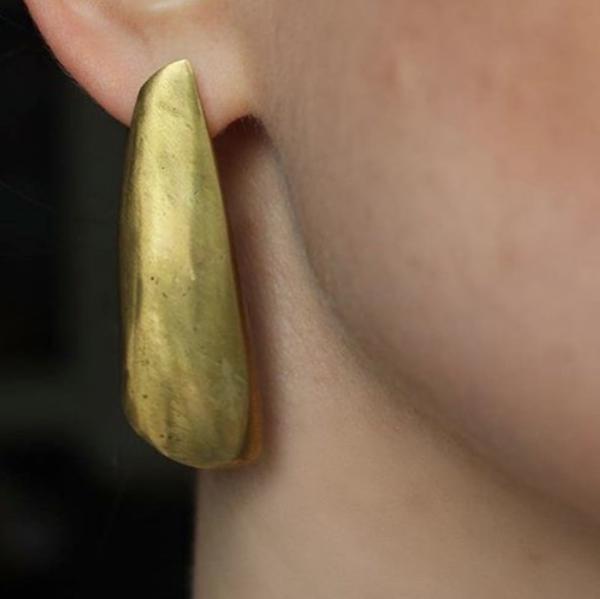 EMBR Jewellery Third Quarter Earrings - BRASS