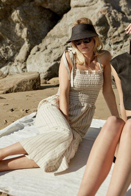 Whimsy + Row Audrey Jumpsuit - Cream Stripe