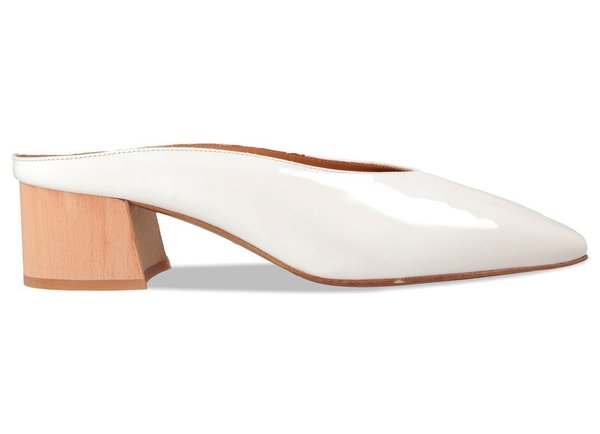 By Far Karen Patent Leather Mule - White