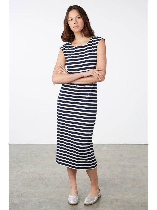 d1b22401d People Tree Amelia Stripes Dress - navy white Breton stripe
