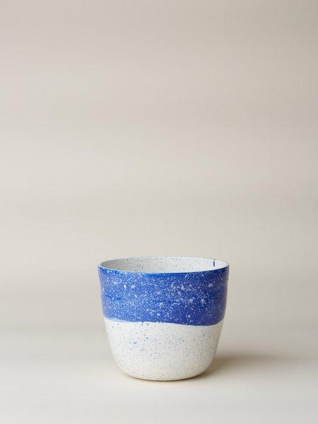 BTW Ceramics Planter - Speckled Blue