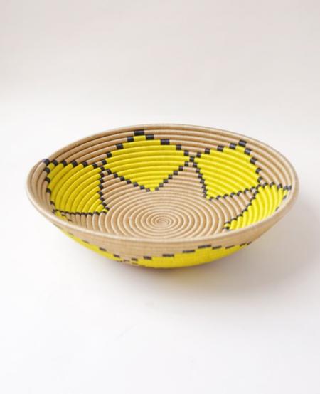 Indego Africa Flower Plateau Platter - citron
