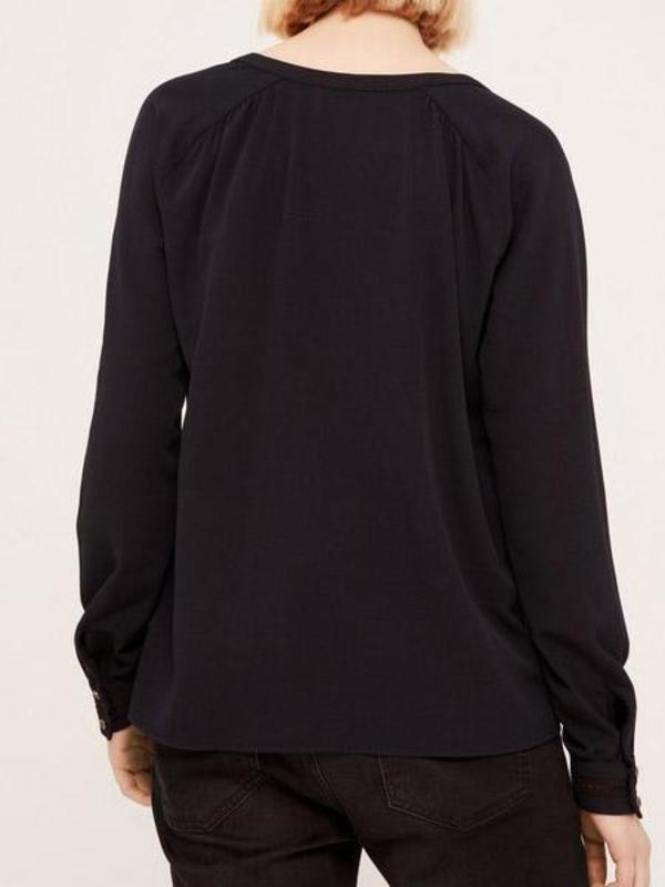 Acote Marine Fonce Blouse - black