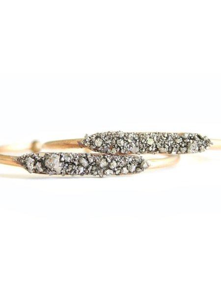 Dea Dia Raw Pyrite Gold Cuff Stacking Bracelet