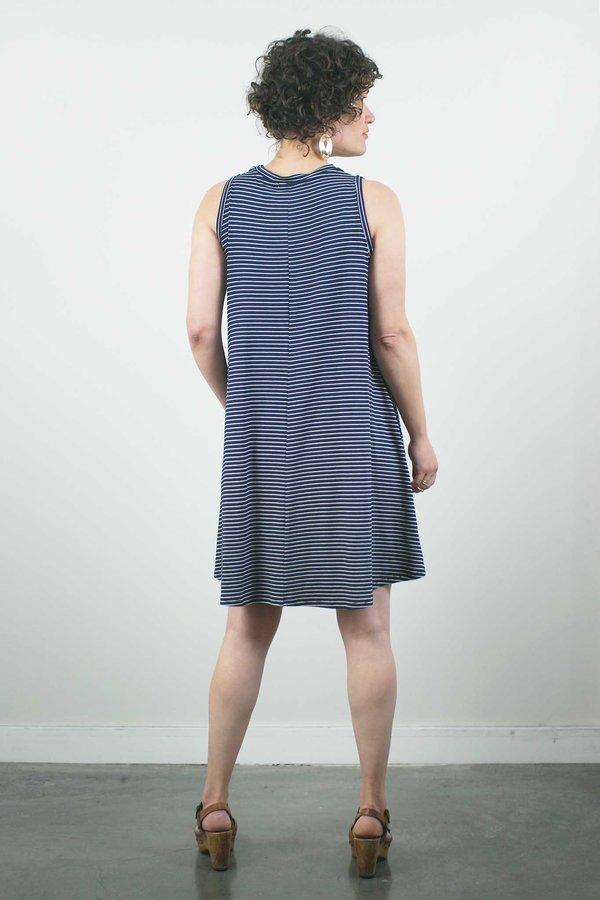 Sarah Liller Josie Dress - Navy Stripe