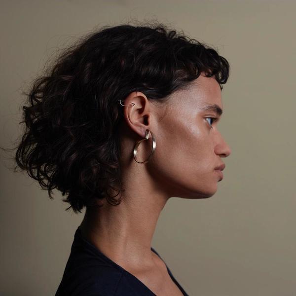Fay Andrada Taka Earrings Medium - brass