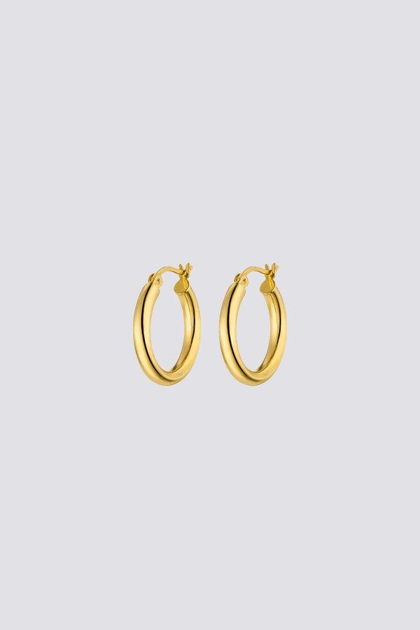 Nina Kastens Medium Hoop Earrings - Gold