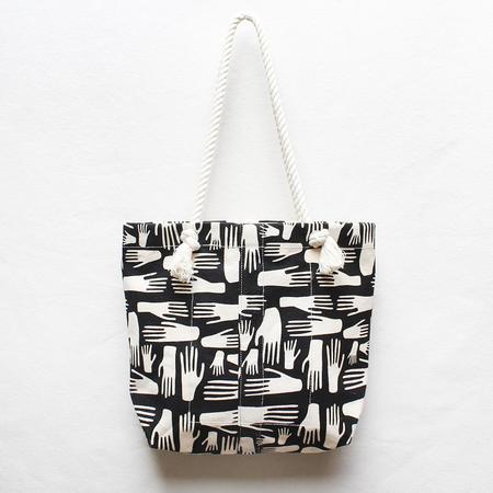 Julia Canright Hands Rope Strap Tote - Block Print
