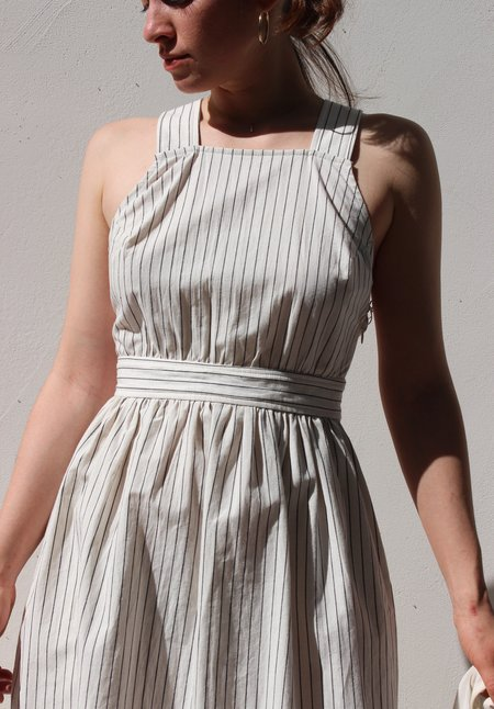 Kordal arianne dress - cream/black stripe