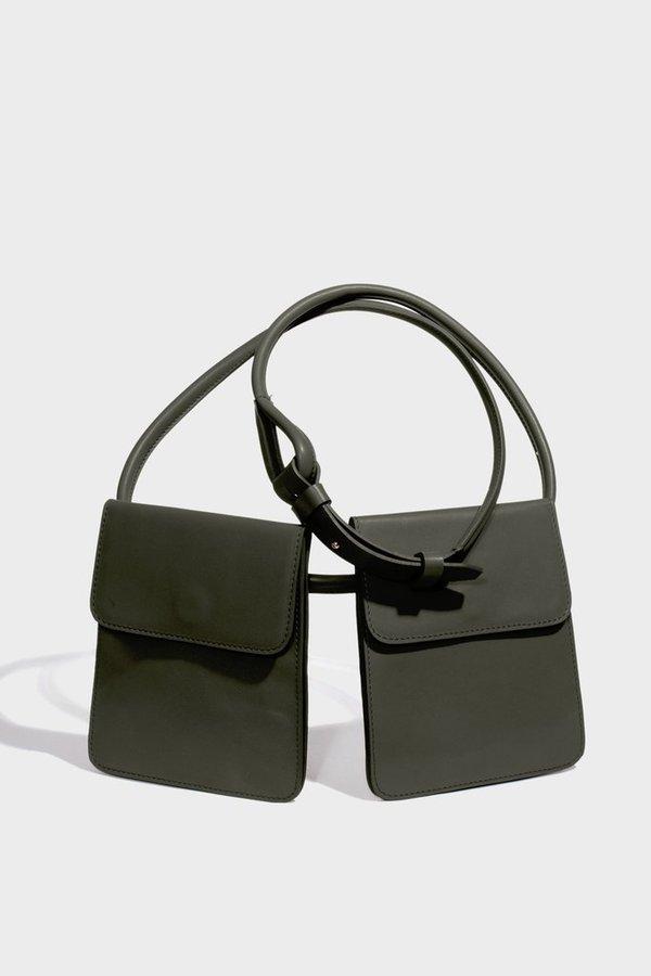 Modern Weaving waist wrap pocket belt - safari