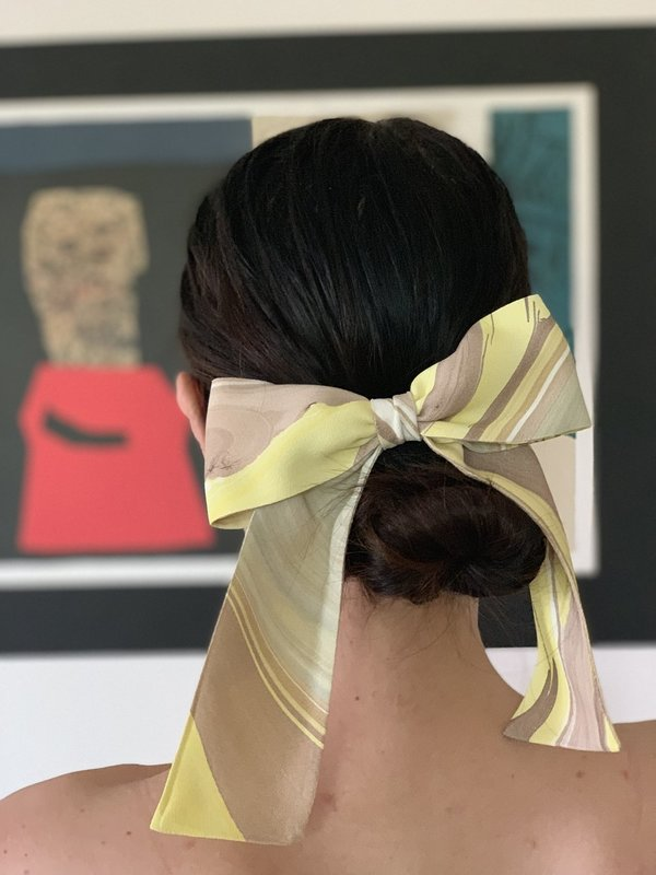 Bianca and Red Studio Classic Hair Bow with Tails