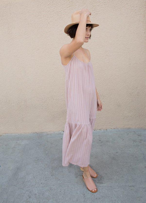 Lindsay Robinson Valley Lurex Dress - Black/Gold Lurex