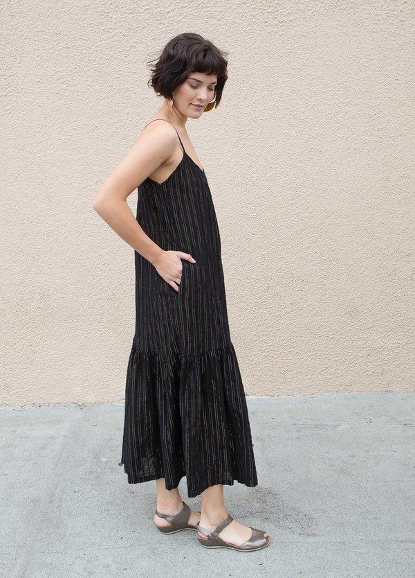 Lindsay Robinson Linsay Robinson Lurex Valley Dress - Black/Gold Lurex