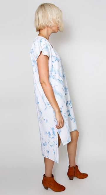Miranda Bennett Shift Dress in Denim-Arashi