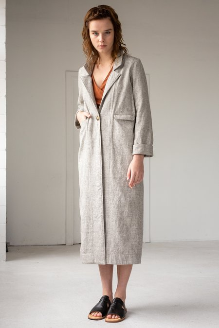 Lois Hazel Straight Duster - Plaid