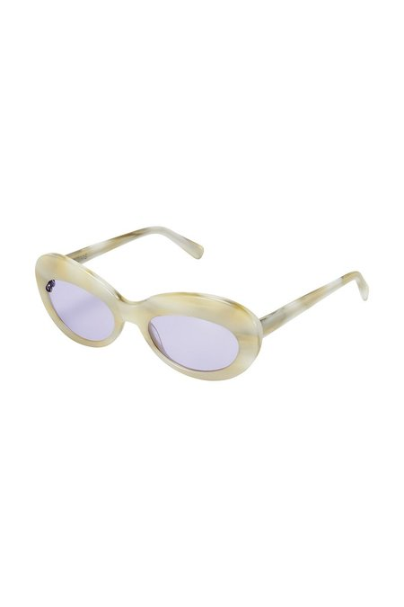 POMS Sabina Sunglasses - Ivory/Amethyst