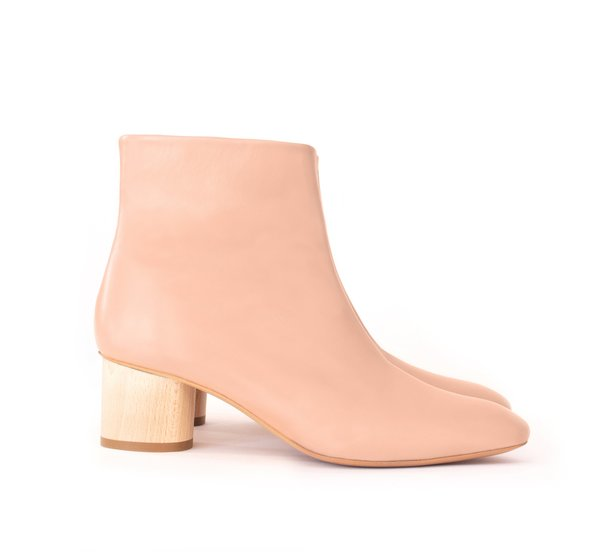 Sydney Brown Low Ankle Boot - Rose
