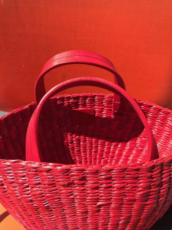 Clare V. Appoline Basket - Red
