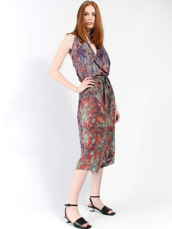 Anntian Halter Overall - Abstract Floral