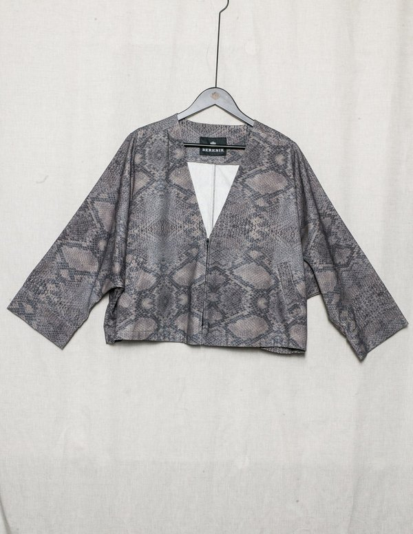 Berenik JACKET WIDE SLEEVES LINEN - printed snake