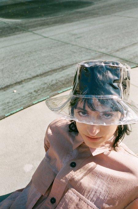 Clyde Vinyl Bucket Hat - clear