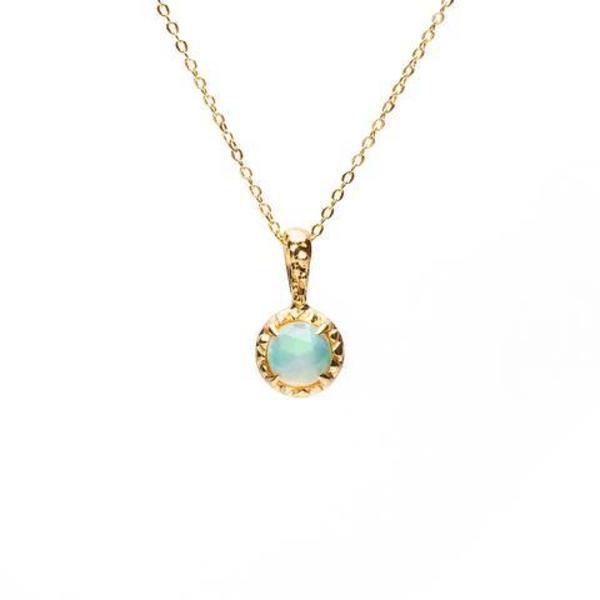 Angela Monaco Matrix Halo Necklace - Gold/Opal