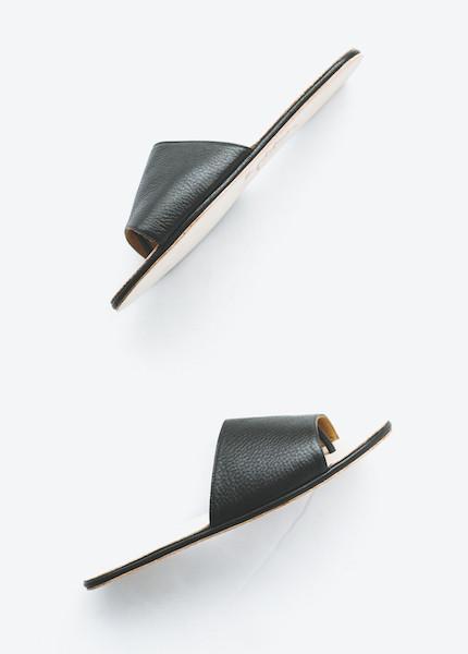 The Palatines - Caelum Slide Sandal in Black