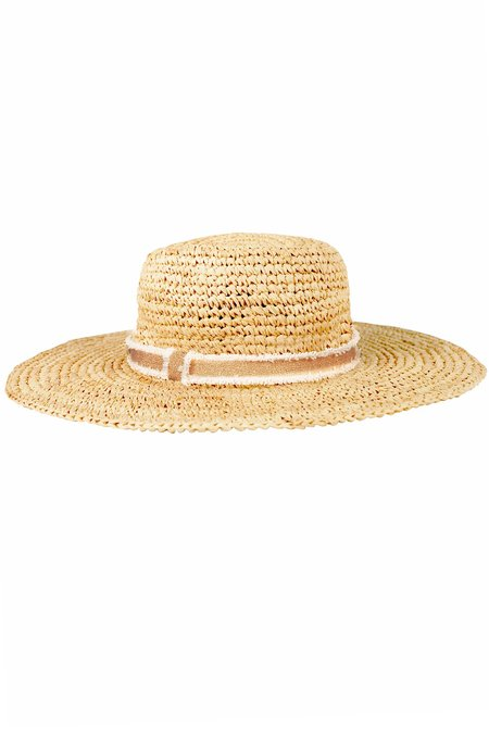 Hat Attack Everywhere Fedora - Natural/Gold