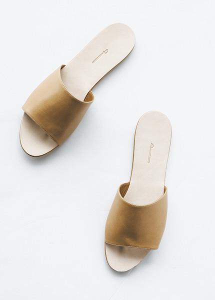 The Palatines - Caelum Slide Sandal in Tan