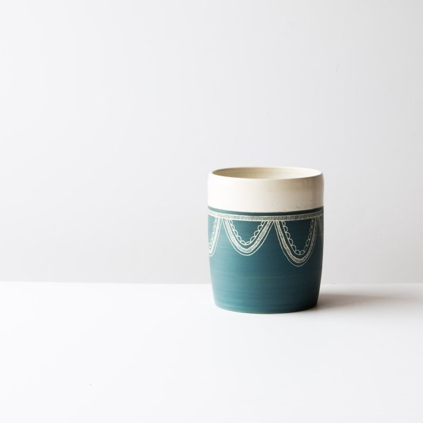 La Sauvage Utensil Crock/Vase - Blue