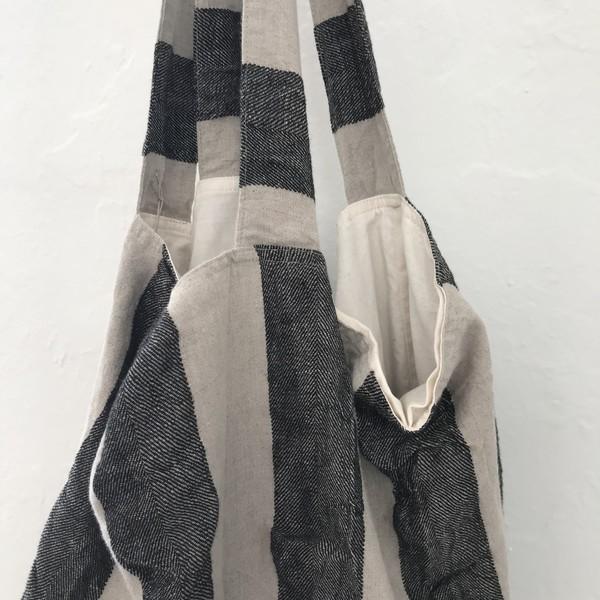 ICHI ANTIQUITES Linen Bag - Stripe