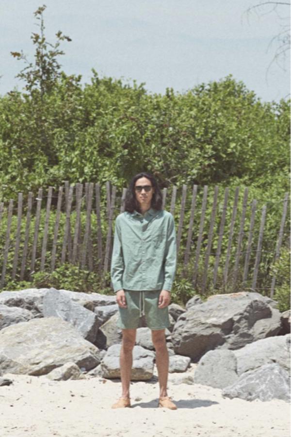 Sunshine Blues Summer LS Shirt - Olive