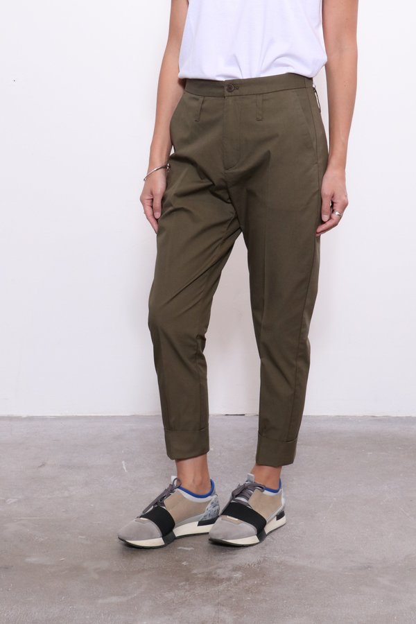 Hope Law Trouser - Khaki Green