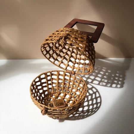 Aranaz Margaux Wicker handbag