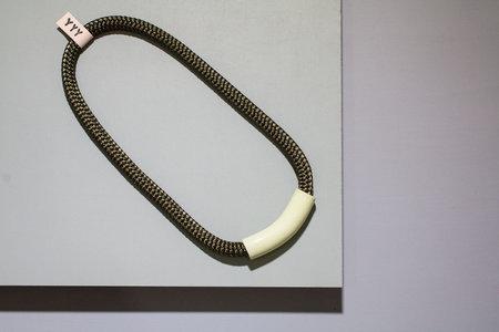 YYY Curve Necklace - Chartreuse/Olive