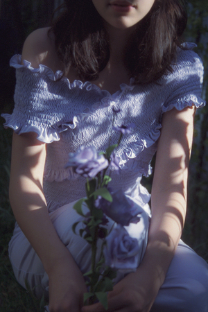 Fiola la Flore Snowdrop dress - lavender
