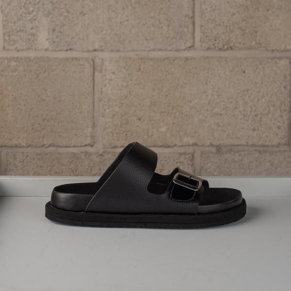 N.Hoolywood Leather Strap Sandals - Black