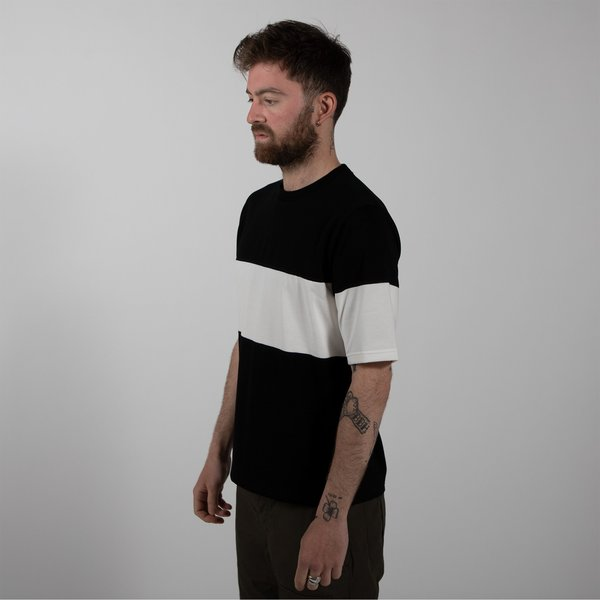 Jackman Border One Stripe T-shirt - Black/White