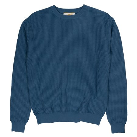 Le Mont St. Michel Graphic Knit Sweater - Indigo