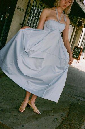 BEVZA Architect Dress - Light Blue