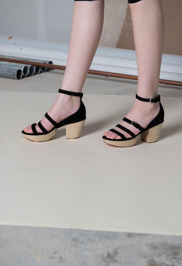 Rachel Comey Gable Gladiator Sandal - Black Suede