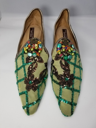 Coast & Koi Tule & Latisse Sequin Shoes - Lime Green