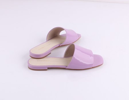 """INTENTIONALLY __________."" JESSICA - Lilac Patent"