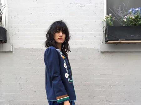 Alix of Bohemia Flower Jacket - Blue
