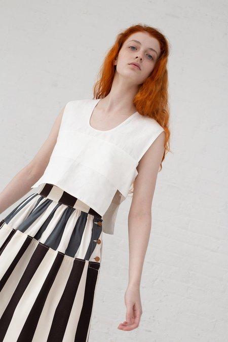 Visvim Elevation Long Skirt Cecile Stripe - Black