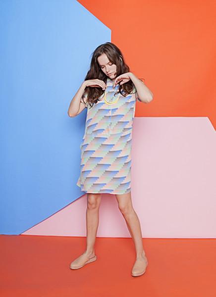 Dusen Dusen Gradient Stripe Oversize Tee Dress