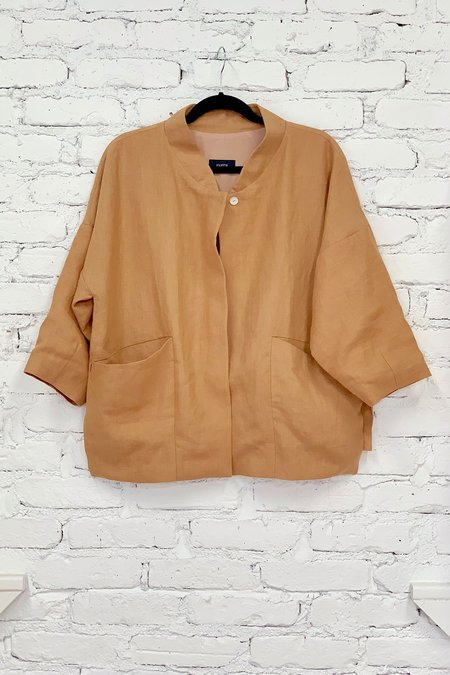 KAAREM Bo Bo Zipper Pocket Anorak - Brown Sand